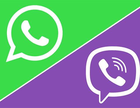 Вайбер и WhatsApp